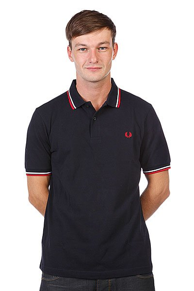 Поло Fred Perry Slim Fit Twin Tipped Black