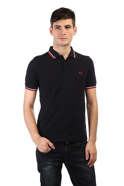 Поло Fred Perry Slim Fit Twin Tipped Shirt рубашка поло la martina рубашка поло