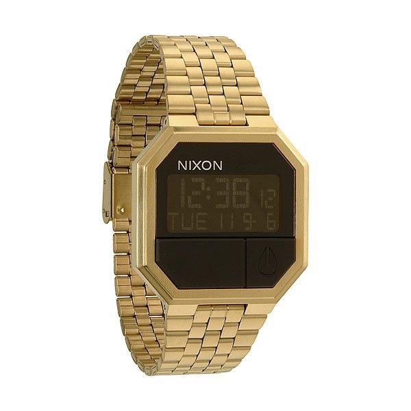 Часы Nixon Re-run All GoldХарактеристики: Многофункциональный цифровой модуль.Корпус: Материал: нержавеющая сталь с полиуретановым покрытием,&amp;nbsp;акриловое стекло. Функции: календарь, двойное время, будильник, таймер, подсветка.Водонепроницаемость 5 atm (50 м).<br><br>Тип: Электронные часы<br>Возраст: Взрослый<br>Пол: Мужской