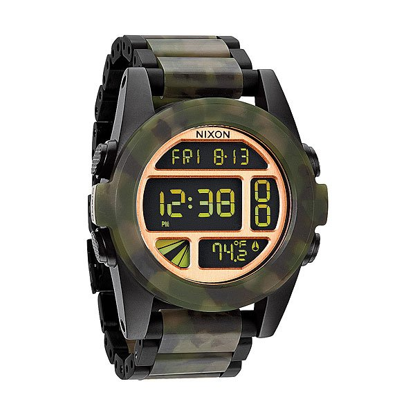 Часы Nixon Unit Ss Matte Black/Camo