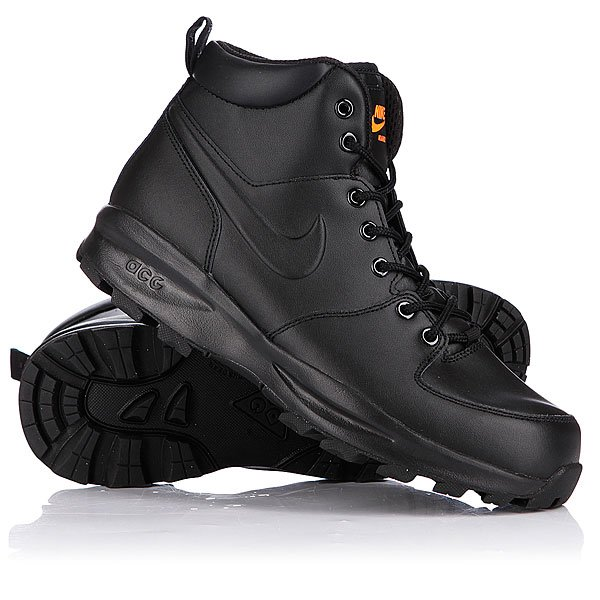 Ботинки зимние Nike ACG Manoa Leather Black/Total Orange Proskater.ru 4850.000