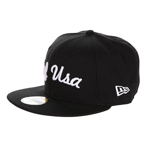 Бейсболка New Era Huf Usa NewEra Black<br><br>Цвет: черный<br>Тип: Бейсболка с прямым козырьком<br>Возраст: Взрослый<br>Пол: Мужской