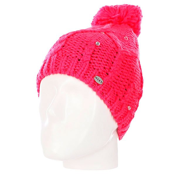 Шапка с помпоном женская Roxy Shooting Star Beanie Diva Pink шапка женская roxy shooting star anthracite