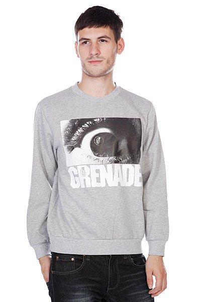 Толстовка классическая Grenade Grenade Mens Hoodie Eyeball Gray