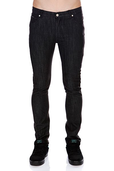 Джинсы узкие Osiris Syd Slim-fit Denim Overdye Black