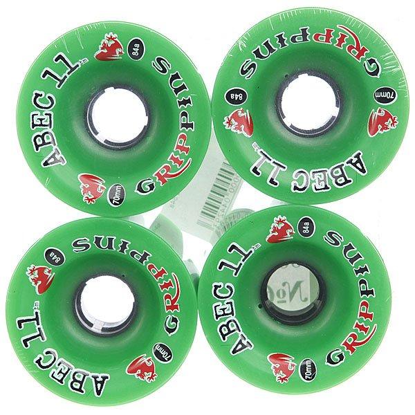 Колеса для скейтборда для лонгборда Abec 11 Grippins Green 84A 70 mm Proskater.ru 3410.000