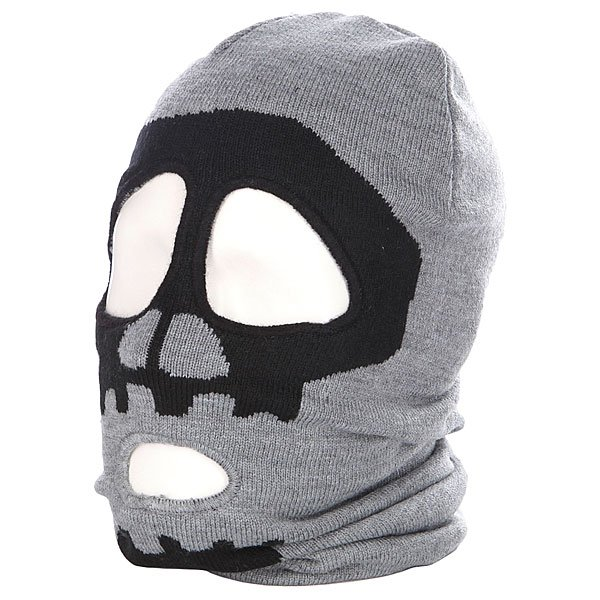 Балаклава Holden X Stussy Skull Ski Mask Grey Heather Proskater.ru 1229.000
