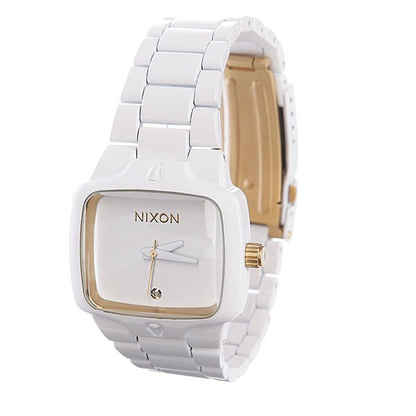 Часы женские Nixon Small Player All White/Gold Proskater.ru 14950.000