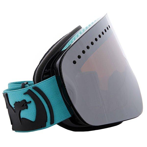 Маска для сноуборда Dragon Snow Nfx Pop Teal Jet Ionized AmberТехнические характеристики:  Цилиндрическая  форма линз.  Двойная конструкция линзы из лексана.  Технология антибликового защитного покрытия линз (на 100% защищает от ультрафиолетового излучения (блокирует вредное UVA, UVB, UVC излучение, а также ультрафиолетовое излучение до 400 NM).  Технология антизапотевания линзы Super Anti-Fog.  Вентиляционные отверстия сверху маски.  Гибкая оправа из полиуретана.  Внутреннее покрытие из защитной тройной формирующей пены для лучшего прилегания маски к лицу и потоотведения.  В месте соприкосновения с лицом дополнительный слой нежного поглощающего влагу флиса Polartec. Линзы с устойчивым к царапинам покрытием. Регулируемый ремешок с накладкой против скольжения.  Совместимость со всеми видами шлемов.  Оптимизирована для средней формы лица.  Светопередача - 35% - 40%, подходит для меняющихся условий освещения от облачной погоды до яркого солнца, добавляет четкости и защищает от яркого света.<br><br>Цвет: голубой,черный<br>Тип: Маска для сноуборда<br>Возраст: Взрослый<br>Пол: Мужской