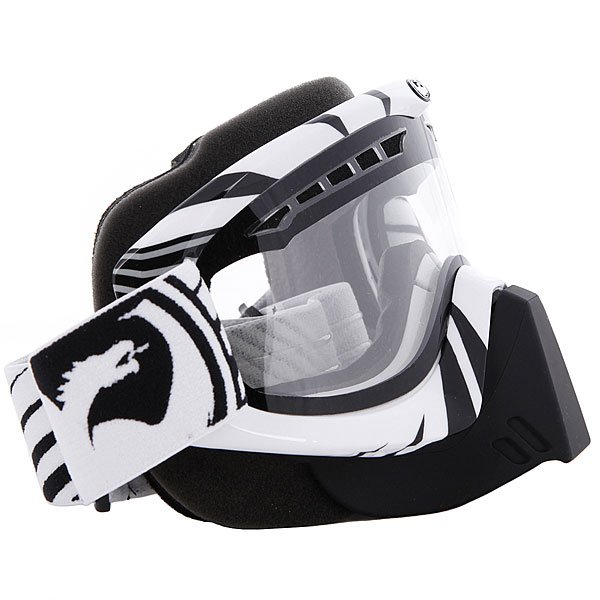 Маска для сноуборда Dragon Snowmobile Mdx Snow Vox Blk-Wht Clear