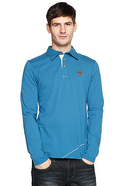 Поло Picture Organic Icon Long Sleeve Polo Blue Petrol
