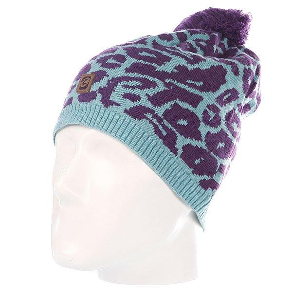 Шапка с помпоном женская Rip Curl Leopard Beanie Light Blue