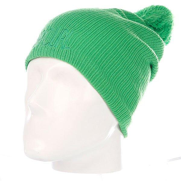 Шапка с помпоном женская Rip Curl Scandi Beanie Classic Green<br><br>Цвет: зеленый<br>Тип: Шапка<br>Возраст: Взрослый<br>Пол: Женский