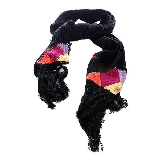 Шарф женский Rip Curl Samantha Scarf BlackДлинный и теплый вязаный шарф с ярким орнаментом и декоративными кисточками.Технические характеристики: Мягкий и теплый шарф.Крупная вязка.Длинная бахрома.Яркий вязаный орнамент.Ярлычок с логотипом Rip Curl.<br><br>Цвет: черный<br>Тип: Шарф<br>Возраст: Взрослый<br>Пол: Женский