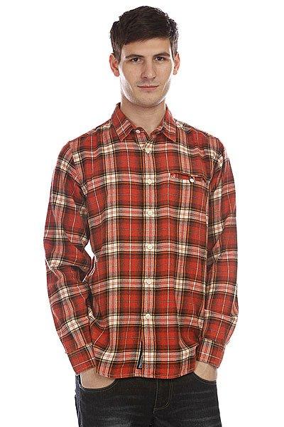 Рубашка в клетку Dickies Marshall Orange<br><br>Цвет: красный<br>Тип: Рубашка в клетку<br>Возраст: Взрослый<br>Пол: Мужской