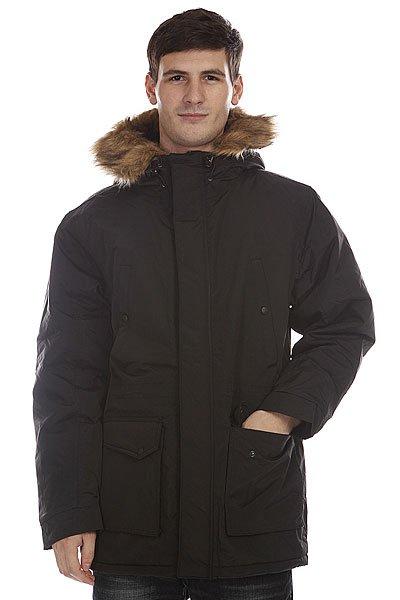 Куртка парка Dickies Curtis BlackТехнические характеристики:  Верх из 100% полиамида.Внутренняя ткань – стеганая тафта.  Застежка-молния + кнопки.  Внутренний потайной карман.  Потайная утяжка подола и пояса.  Два накладных боковых кармана для рук. Съемный капюшон с отделкой из искусственного меха.Фасон: стандартный (regular fit).<br><br>Цвет: черный<br>Тип: Куртка парка<br>Возраст: Взрослый<br>Пол: Мужской