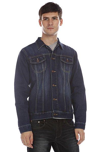 Куртка джинсовая Dickies Fort Worth Stonewash<br><br>Цвет: синий<br>Тип: Куртка джинсовая<br>Возраст: Взрослый<br>Пол: Мужской