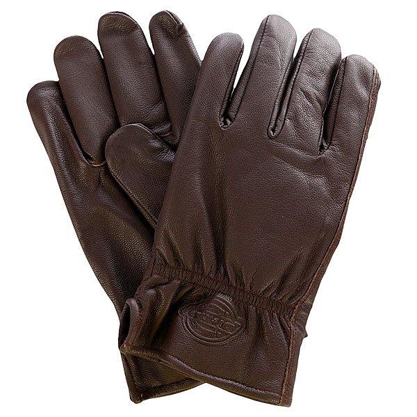 Перчатки Dickies Memphis Dark BrownВысококачественные кожаные перчатки Memphis с утеплителем Thinsulate.Технические характеристики: Качественная натуральная кожа.Утеплитель Thinsulate 40 гр.Эластичные манжеты.Тисненый логотип.<br><br>Цвет: коричневый<br>Тип: Перчатки<br>Возраст: Взрослый<br>Пол: Мужской