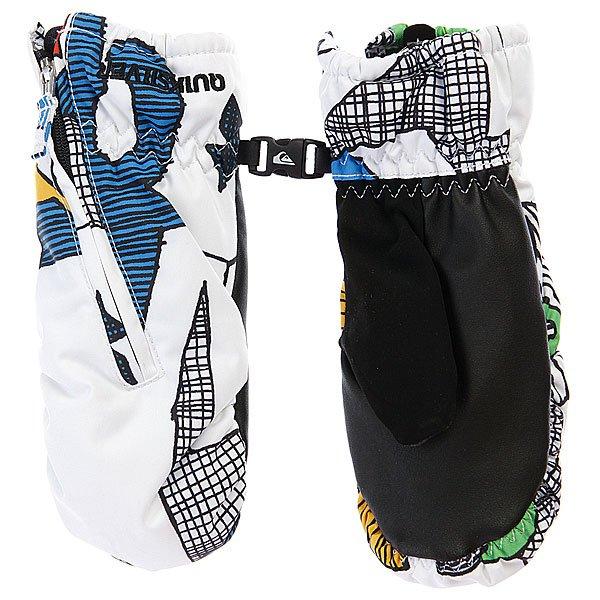 Варежки сноубордические Quiksilver Indie Kids Mitt Aop Moldan White Proskater.ru 1120.000