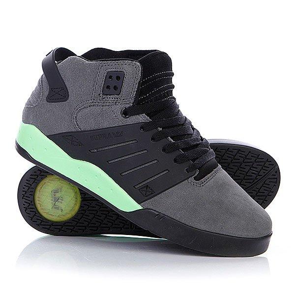 Кеды кроссовки высокие Supra Skytop Iii Charcoal/Neon
