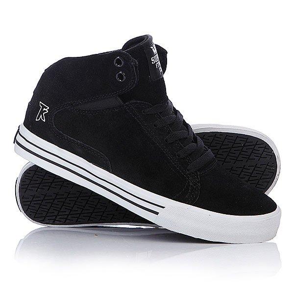 Кеды кроссовки высокие Supra Society Mid Black White