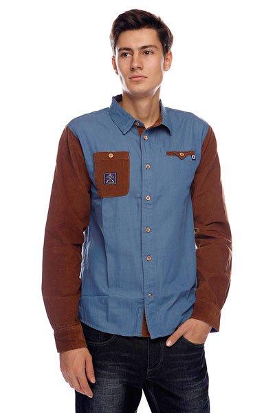 Рубашка Picture Organic Organic Jeffrey Jean Brown<br><br>Цвет: голубой,коричневый<br>Тип: Рубашка<br>Возраст: Взрослый<br>Пол: Мужской