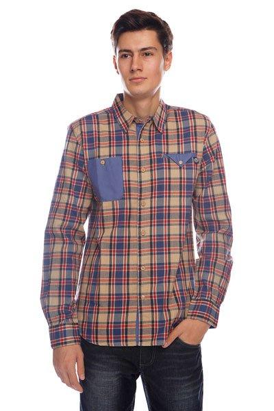 Рубашка в клетку Picture Organic Pepper Beige<br><br>Цвет: коричневый<br>Тип: Рубашка в клетку<br>Возраст: Взрослый<br>Пол: Мужской