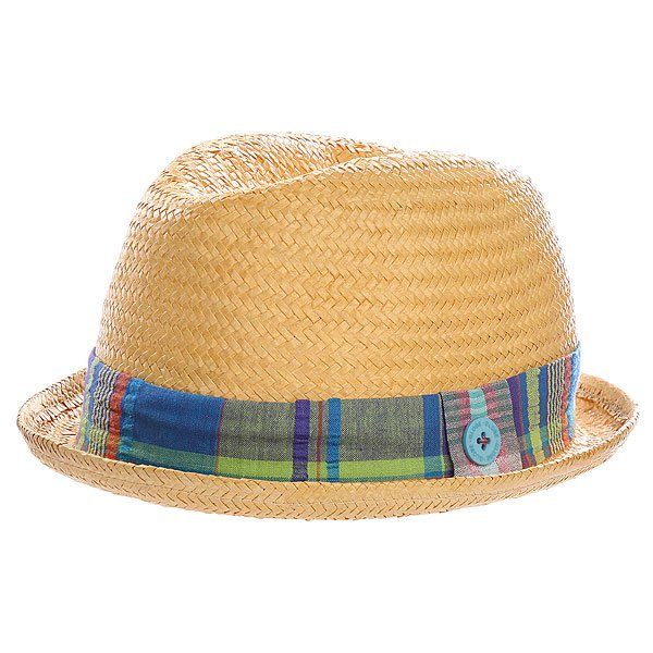 Шляпа Globe Plaid Band Bowler Hat Natural