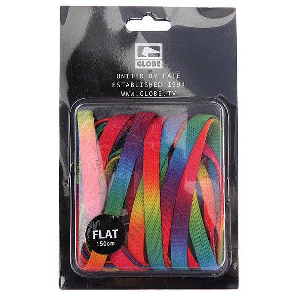 Шнурки Globe Rainbow Flat Lace Rainbow<br><br>Цвет: черный<br>Тип: Шнурки<br>Возраст: Взрослый<br>Пол: Мужской