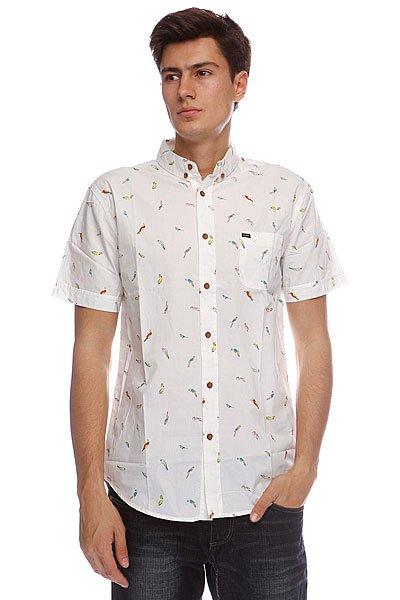 Рубашка Globe Amazonia Shirt Fog<br><br>Цвет: белый<br>Тип: Рубашка<br>Возраст: Взрослый<br>Пол: Мужской