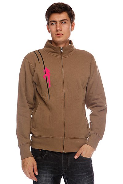 Толстовка Globe Fetish Zip Track Sweat Walnut