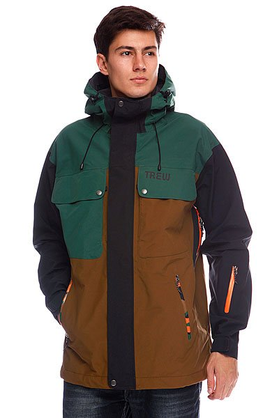 Куртка Trew The Bellows CamoБренд TREW GERR<br><br>Цвет: зеленый,коричневый,камуфляжный<br>Тип: Куртка утепленная<br>Возраст: Взрослый<br>Пол: Мужской
