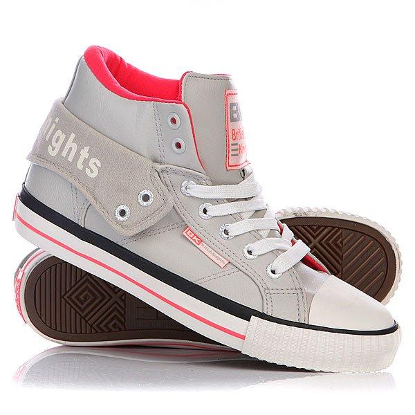 Кеды кроссовки высокие женские British Knights Roco Ice/Neon Pink цены онлайн
