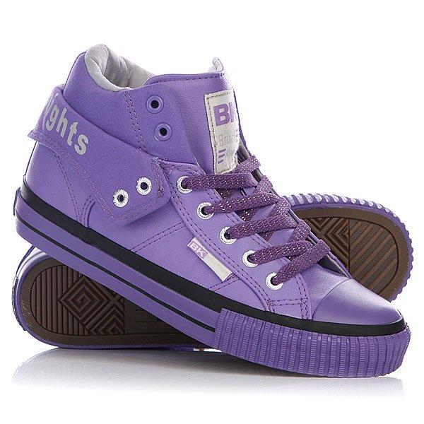 Кеды кроссовки высокие женские British Knights Roco Purple/Light Grey/Purple стоимость