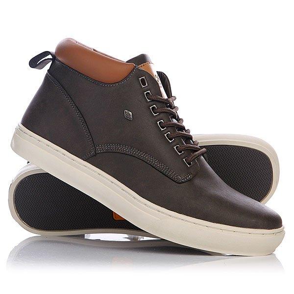 Кеды кроссовки высокие British Knights Wood Dark Grey/Cognac стоимость