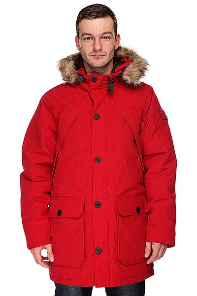 Куртка парка Penfield Hoosac Parka Faux Fur Red