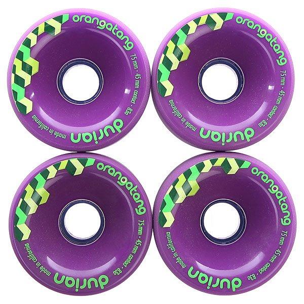 Колеса для скейтборда  Durian Purple 75mm Orangatang. Цвет: фиолетовый