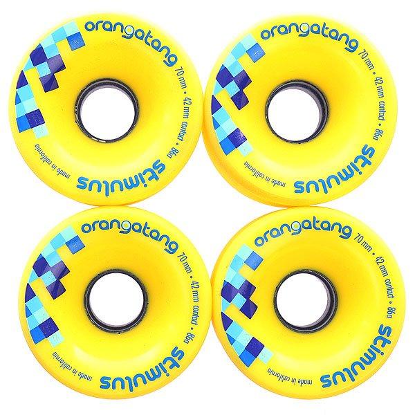 Колеса для скейтборда  Stimulus Yellow 70mm Orangatang. Цвет: желтый