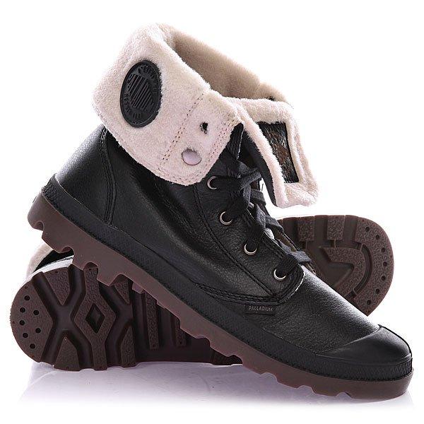 Купить Обувь   Ботинки зимние Palladium Baggy Leather Black Pilot
