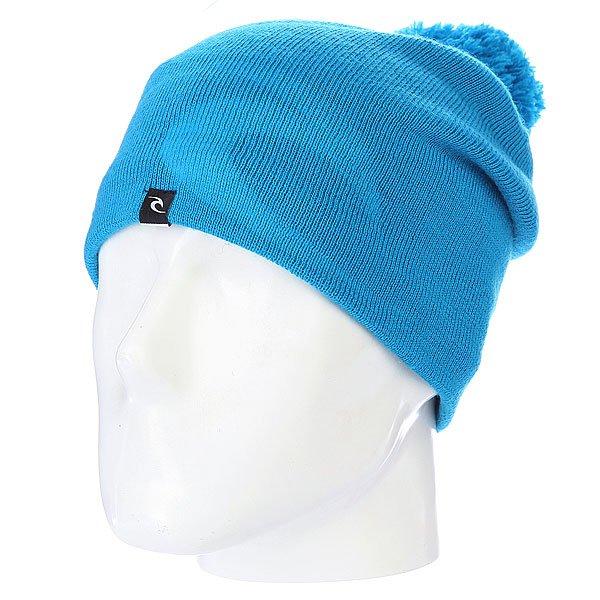 Шапка с помпоном Rip Curl Ultimate Cham Beannie Atomic Blue<br><br>Цвет: голубой<br>Тип: Шапка<br>Возраст: Взрослый