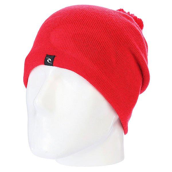 Шапка с помпоном Rip Curl Ultimate Cham Beannie Fluro Red<br><br>Цвет: красный<br>Тип: Шапка<br>Возраст: Взрослый