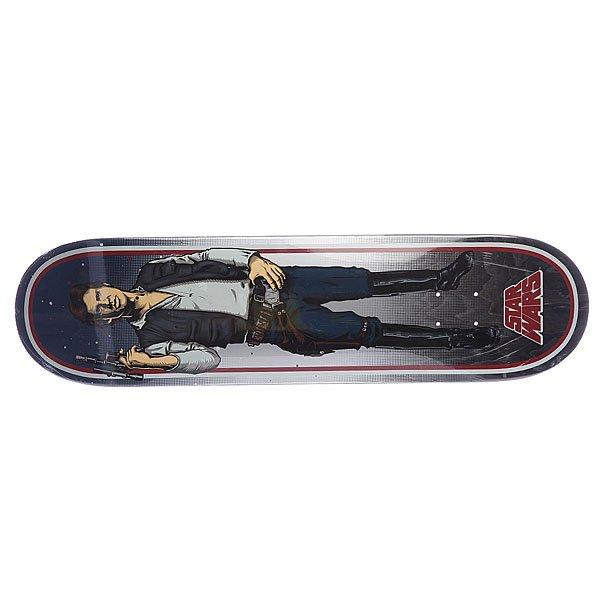 Дека для скейтборда для скейтборда Santa Cruz Han Solo 32.2 x 8.4 (21.3 см)Ширина деки: 8.4 (21.3 см)    Длина деки: 32.2 (81.8 см)    Количество слоев: 7<br><br>Цвет: синий<br>Тип: Дека для скейтборда