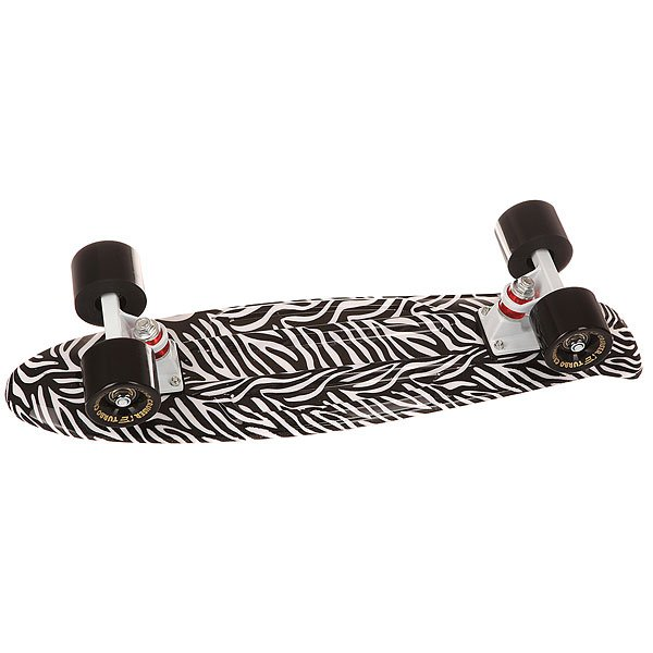 Скейт мини круизер Turbo-FB Zebra White/Black/Black 22 (55.9 см)