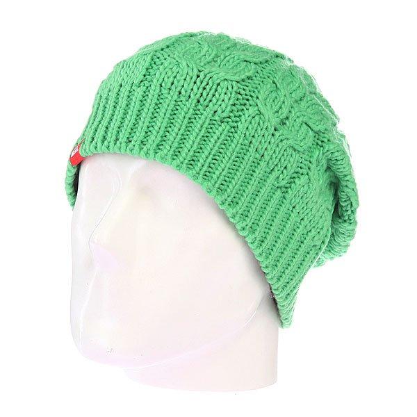 Шапка с помпоном Quiksilver Planter Beanie Poison Green<br><br>Цвет: зеленый<br>Тип: Шапка<br>Возраст: Взрослый<br>Пол: Мужской