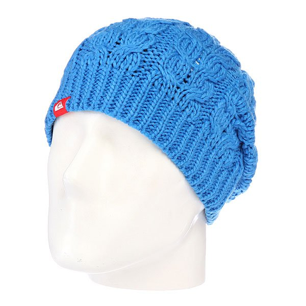 Шапка с помпоном детская Quiksilver Planter Youth Beanie Brillant Blue
