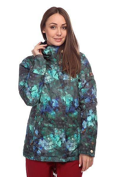 Куртка женская Roxy Torah Bright Individual Jacket Ocean DepthsТехнические характеристики: Утепление – 120 гр тело/80 гр рукава/ 40 гр капюшон. Плотная трикотажная подкладка.  Мембрана: водонепроницаемость/испарение – 8,000 гр/ 8,000 мм.  Съемный капюшон.  Съемный мех на капюшоне. Карман для ски-пасса на рукаве. Вентиляционные отверстия на молнии. Съемная снежная юбка с эластичными вставками. Карман для МР-3 на молнии. Сетчатый карман для маски. Брелок для ключей. Эластичные манжеты. Система крепления к штанам. Фасон – приталенный (slim).<br><br>Цвет: зеленый<br>Тип: Куртка утепленная<br>Возраст: Взрослый<br>Пол: Женский
