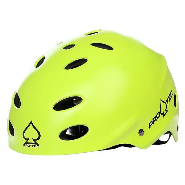 Шлем для скейтборда Pro-Tec Ace Wake Satin CitrusПрактичный и стильный шлем cо съёмной защитой для ушей, отлично подходящий для вэйкбординга и других видов водного спорта.  Характеристики: Внешняя раковина изготовлена из высокопрочного пластика ABS.  Внутренняя часть выполнена из плотной двухслойной пены EVA, которая создаёт комфорт и дополнительную защиту.Регулируемый ремешок с неопреновой панельюдля крепления на подбородке, который обеспечивает надлежащую фиксацию и предотвращает скольжение шлема.Дополнительная фиксация на затылке для более плотного прилегания.  Съёмные накладки для ушей обеспечивают дополнительную защиту и тепло, не ограничивая слышимость.Практичный и стильный шлем cо съёмной защитой для ушей, отлично подходящий для вэйкбординга и других видов водного спорта.  Характеристики: Внешняя раковина изготовлена из высокопрочного пластика ABS.  Внутренняя часть выполнена из плотной двухслойной пены EVA, которая создаёт комфорт и дополнительную защиту.Регулируемый ремешок с неопреновой панельюдля крепления на подбородке, который обеспечивает надлежащую фиксацию и предотвращает скольжение шлема.Дополнительная фиксация на затылке для более плотного прилегания.  Съёмные накладки для ушей обеспечивают дополнительную защиту и тепло, не ограничивая слышимость.<br><br>Цвет: зеленый<br>Тип: Шлем для скейтборда