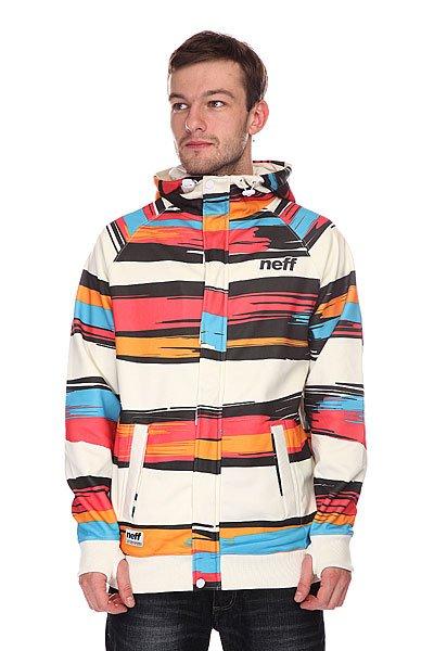 Толстовка сноубордическая Neff Painted Stripe Shred White/Red<br><br>Цвет: мультиколор<br>Тип: Толстовка сноубордическая<br>Возраст: Взрослый<br>Пол: Мужской