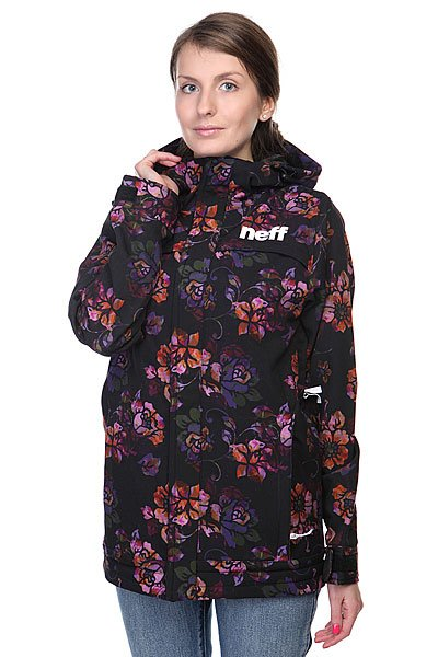 Куртка женская Neff Lush Softshell Flower Black