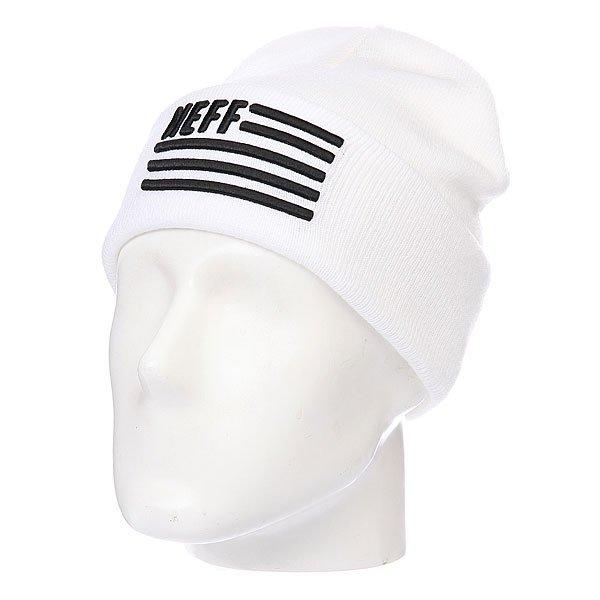 Шапка Neff Flagged White<br><br>Цвет: белый<br>Тип: Шапка<br>Возраст: Взрослый